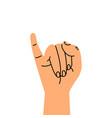 little finger making gesturing vector image vector image
