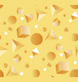 minimal yellow geometric shapes seamless pattern vector image vector image