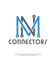 minimalist modern logo initials mn vector image vector image