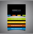 modern striped business card design vector image vector image