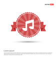 music note icon - red ribbon banner vector image