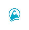muslimah hijab vector image vector image