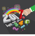 New Year Celebrate 2017 vector image vector image