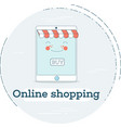 online shopping concept in line art style vector image vector image