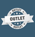 outlet ribbon outlet round white sign outlet vector image vector image