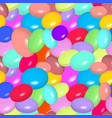 pattern with colorful candies vector image