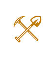 Pick Axe Shovel Crossed Retro vector image