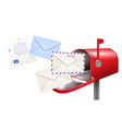 post mailbox letters composition vector image