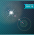 realistic lens flare light effect on transparent vector image vector image