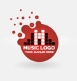 round bubbles music logo eps file vector image