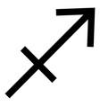 sagittarius symbol zodiac icon black color flat vector image