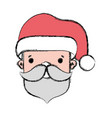 santa claus head to celebrate of christmas vector image vector image