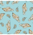 Seamless pattern with angel wings vector image vector image