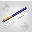 set of 2 pens isolated on light background vector image