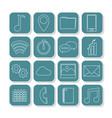 set of smartphone app symbols vector image