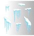 Set of snow borders with icicles vector image vector image