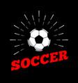 soccer football sport ball logo icon sun burtst vector image vector image