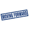 square grunge blue moving forward stamp vector image vector image