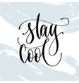 stay cool - hand lettering typography poster about vector image