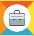 suitcase icon colored line symbol premium quality vector image vector image