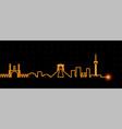 tehran light streak skyline vector image vector image