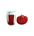 tomato vegetable juice glass of natural vector image