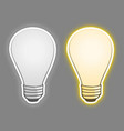 two bulb vector image