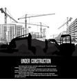 under construction concept with excavator vector image vector image