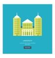 university building icon vector image vector image