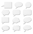 White speech bubble cards vector image vector image