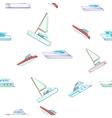 Yacht pattern cartoon style vector image vector image