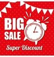 big sale super discount clock pennat polka dot vector image