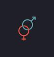 Gender computer symbol vector image