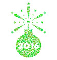 2016 fireworks detonator collage icon of dots vector image
