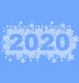 2020 template greeting card background vector image vector image