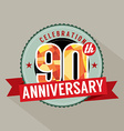 90th Years Anniversary Celebration Design vector image