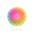 Abstract background Colorful rainbow circle with vector image