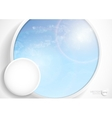 Abstract Background With White Paper Circles vector image