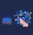 artificial intelligence male head cyber brain