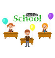 Banner or poster welcome back to school text