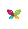 beauty butterfly logo template vector image vector image