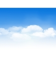 Blue sky with clouds vector image vector image