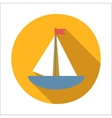 Boat flat icon vector image vector image