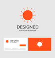 business logo template for sun weather sunset vector image