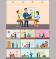 business meeting in office teamwork in conferenc vector image