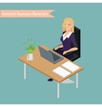 Business woman management vector image