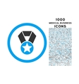 Champion Medal Rounded Icon with 1000 Bonus Icons vector image vector image