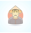 Chinese man in traditional cloth icon vector image vector image