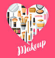 cosmetics for skincare and makeup background for vector image vector image