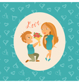 Couple in love 23 vector image vector image